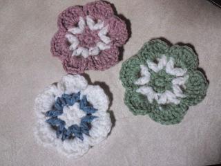 平面と立体の花モチーフ64