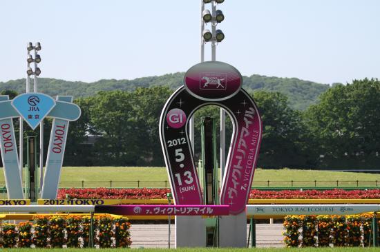 東京競馬場ゴール板ヴィクトリアマイル