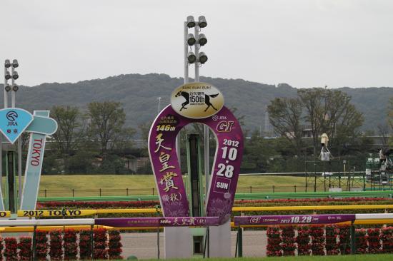 東京競馬場天皇賞ゴール板