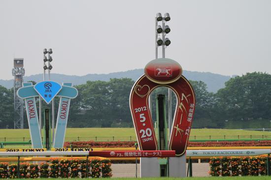 東京競馬場ゴール板オークス2012