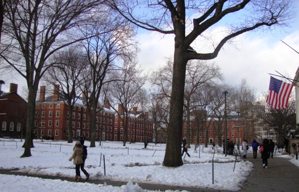130102 Harvard in snow