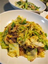 ホイコーロ&チンゲン菜の炒め物