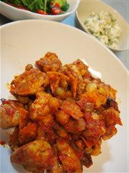 鶏と豆のトマト煮