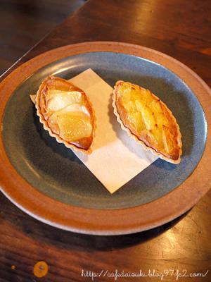 喫茶ニワトコノミ◇パインのタルト&りんごのタルト