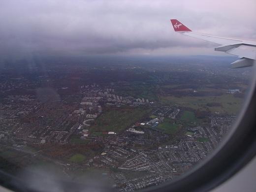 ロンドン上空。