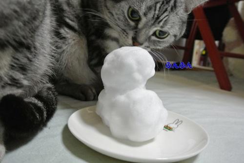ねおと小雪だるま