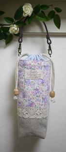ペットボトルケース ピンク系花柄120622