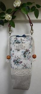 ペットボトルケース モスグリーン花柄120630