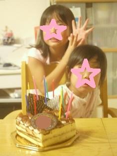お誕生日のお祝いケーキ120915paint