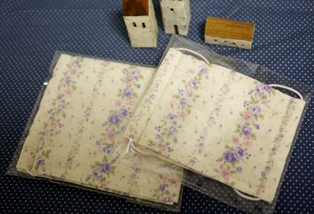 マスク_紫とピンクの花柄大小121222