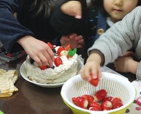 ケーキ フルーツ飾り付け121224