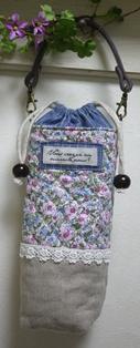 ペットボトルホルダー ピンク花柄 130317