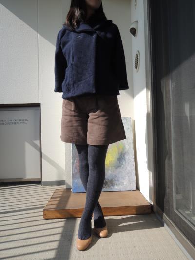 hibi+ショールカラーコート_着画1