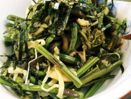 14-12-10 山菜たべ