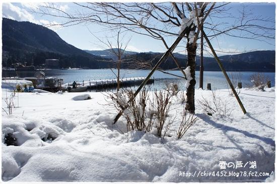 雪の芦ノ湖