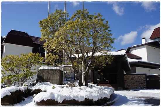 雪の山のホテル