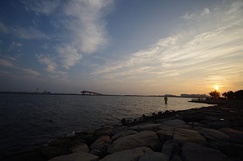 城南島の夕暮れ