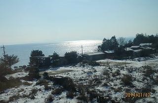 琵琶湖に光射す