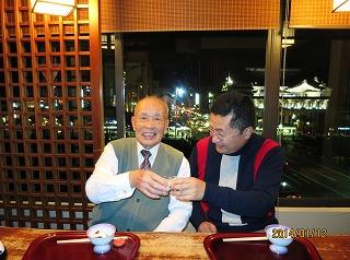 劉さんと乾杯