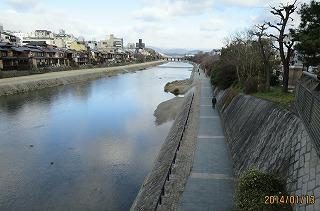 加茂川の流れ