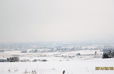 冨山平野の冬