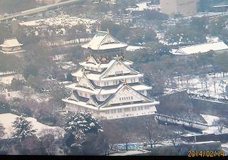 大阪城雪景色