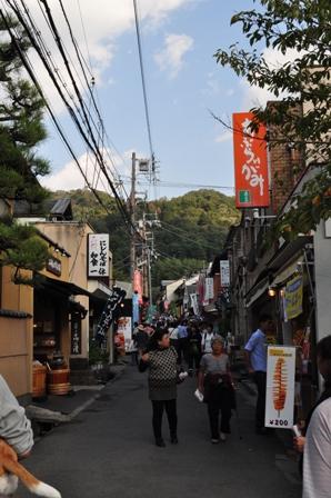 銀閣寺の参道