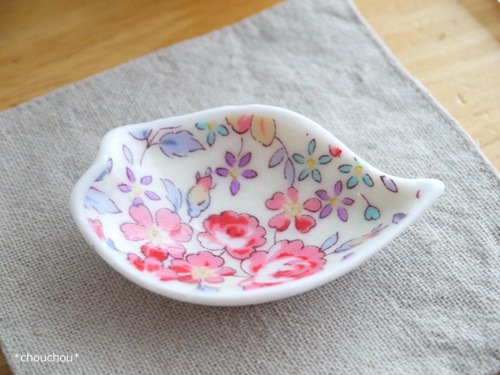 豆皿 デコパ 花柄