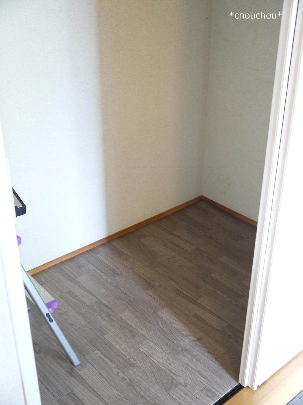 玄関収納 クッションフロアー 敷き