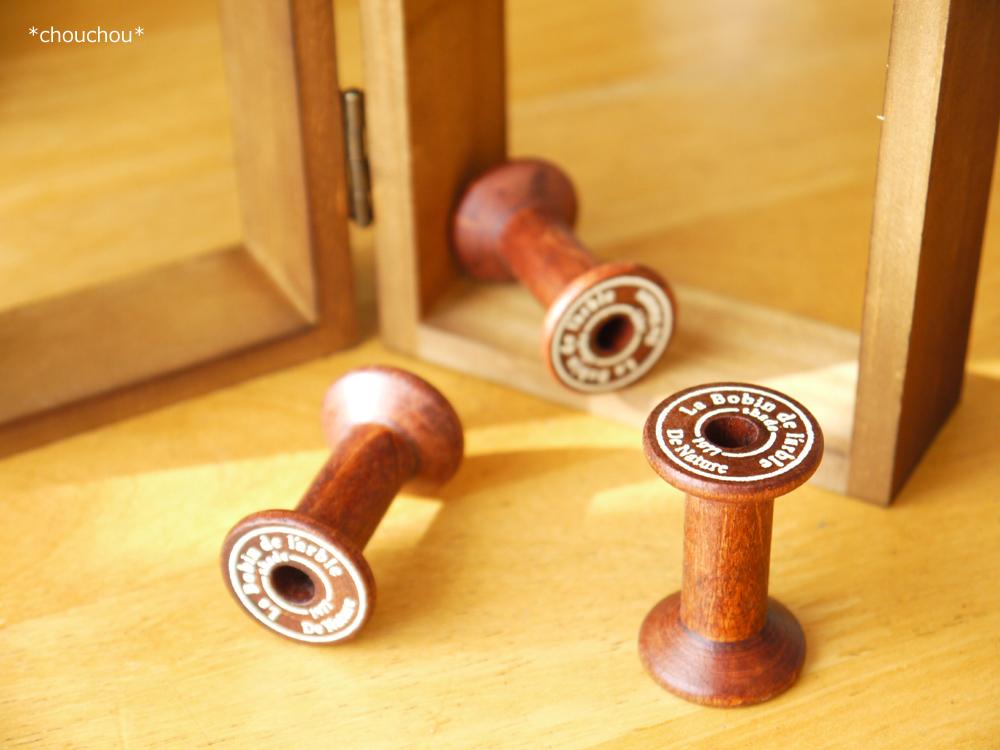 セリア 木製 ボビン