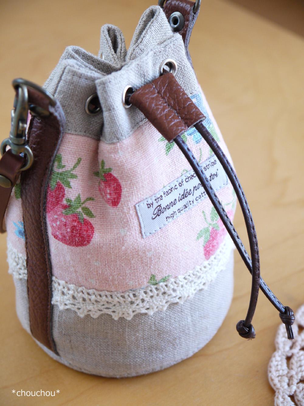 YUWA苺 巾着型bag