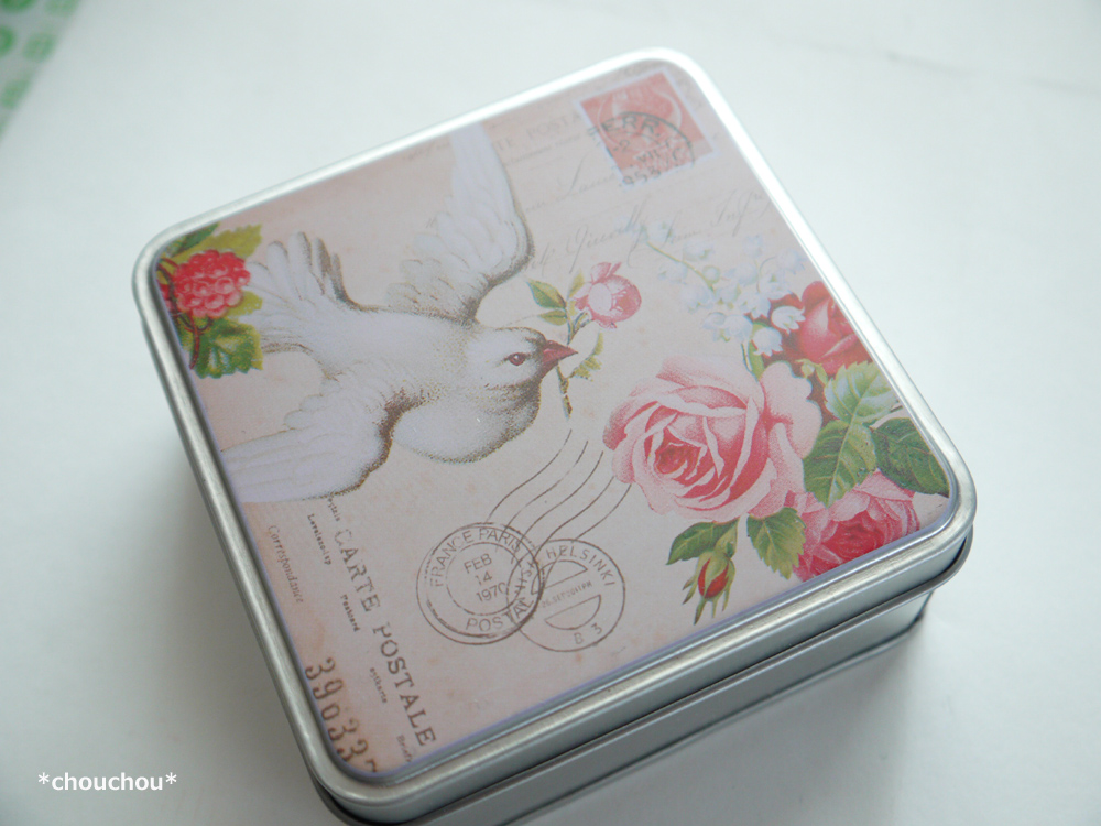 セリア 小鳥 缶