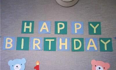 お誕生日の飾り