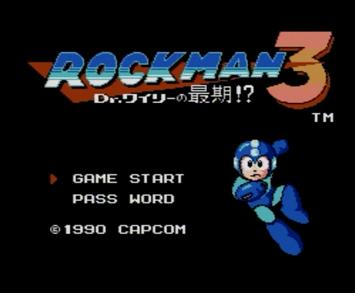 ロックマン3 Dr.ワイリーの最期!?:タイトル