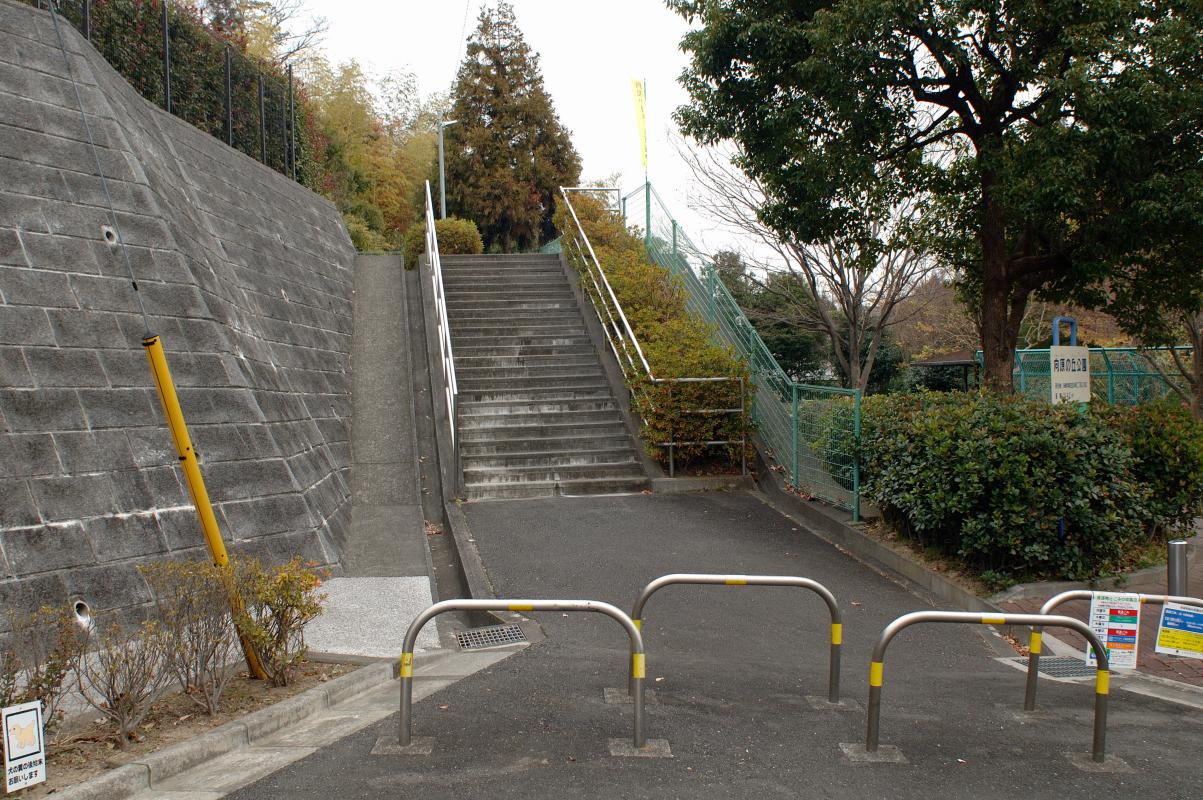 上り坂の次は階段です。