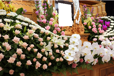 バラの花祭壇 088
