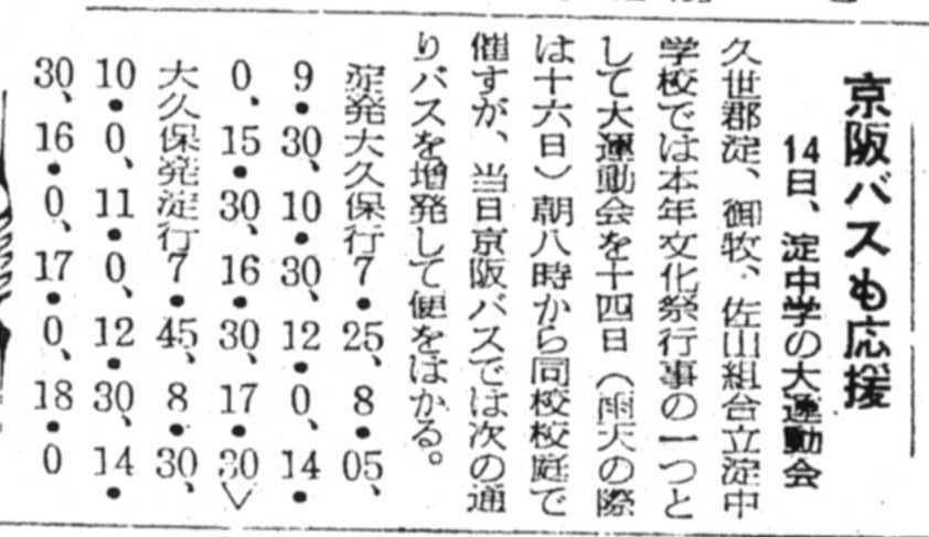 S27.10.12KY 淀中学校大運動会 京阪バス臨時便b