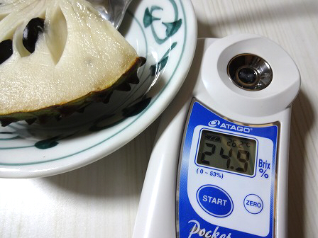 糖度も測定!