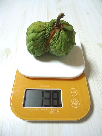 お約束の重量測定