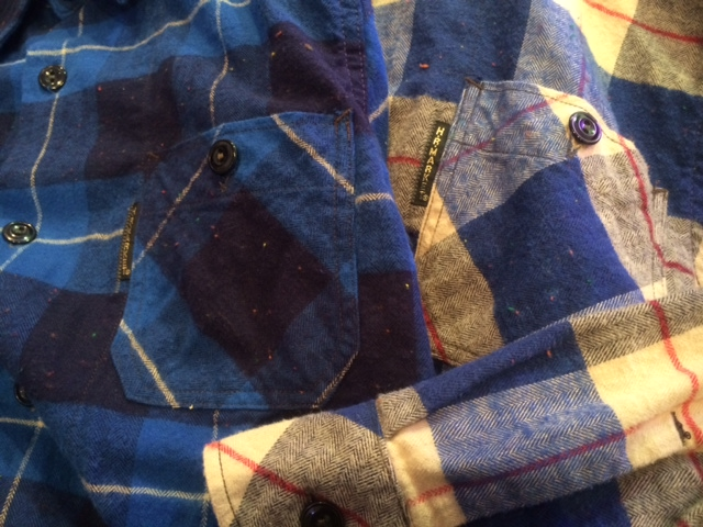 HRM ネルチェックロングシャツ2