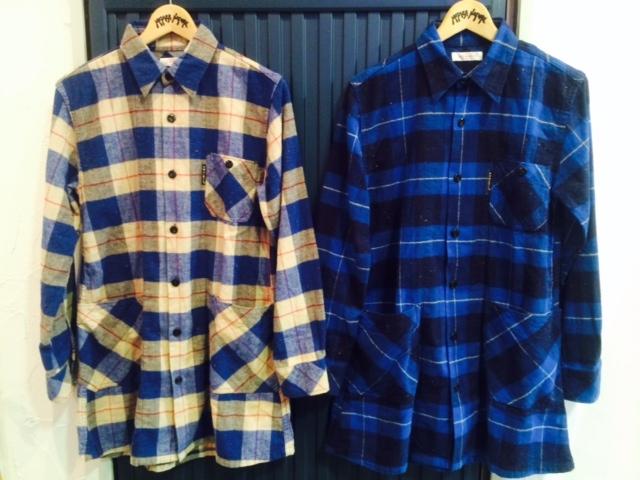 HRM ネルチェックロングシャツ1