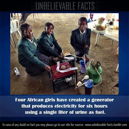 アフリカの女の子達がジェネレーターを作成