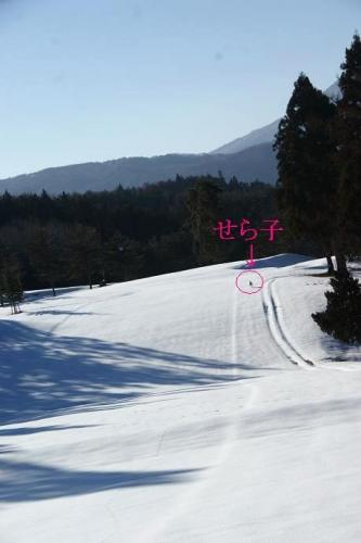 晴天続きの雪山11