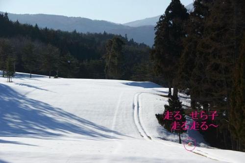 晴天続きの雪山12