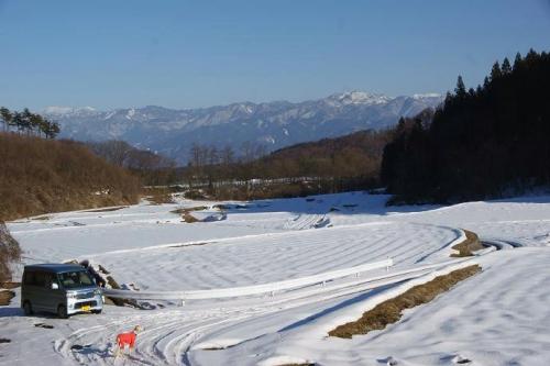 晴天続きの雪山21