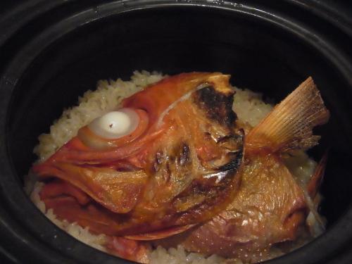 金目鯛の土鍋炊き御飯