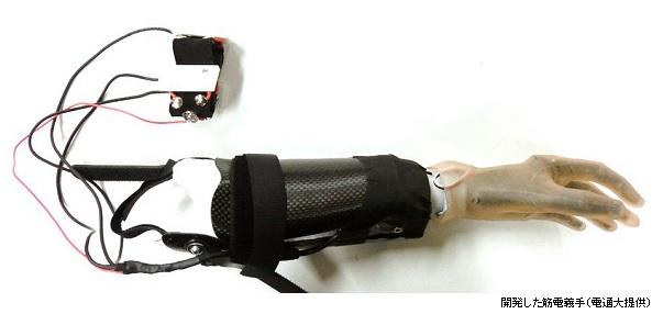 dentsu-univ_3Dprint_ myoelectric upper limb prosthesis_image