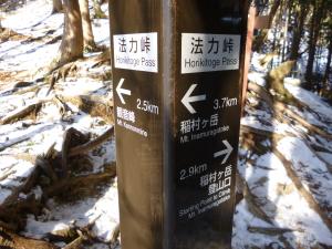 2013年初山歩きは稲村・大日・観音峯