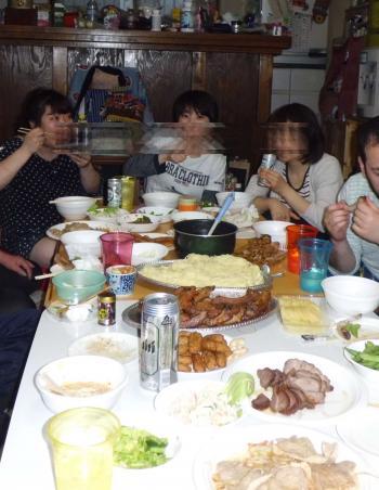 O田植え晩餐1