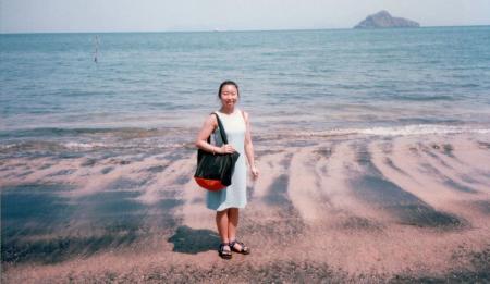 M'sia ランカウイ島黒い砂浜で